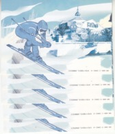 China 2018 PP295 Emble Of BeiJing 2022 Olympic Winter Game Pre-stamped Postal Card Overprint B Five Sets - Skisport