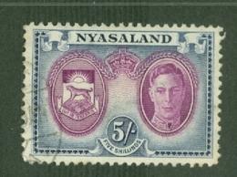 Nyasaland: 1945   KGVI - Pictorial     SG155    5/-     Used - Nyassaland (1907-1953)