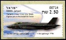 ISRAEL 2019 - Israeli Air Force Fighter Jets - F- 35I LIGHTNING II - Haifa ATM # 714 Label - MNH - Militaria