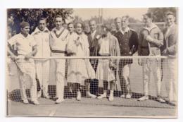 1930s YUGOSLAVIA, CROATIA, ZAGREB?, TENNIS CLUB, ORIGINAL PHOTOGRAPH, ILLUSTRATED POSTCARD, NOT USED - Yugoslavia