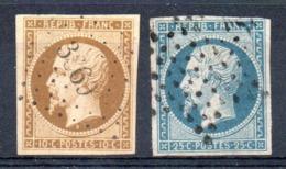 A SAISIR - YT N° 9 +10 Signés Calves - Cote: 895,00 € - 1852 Louis-Napoléon