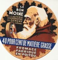 Rare étiquette De Fromage  Camembert Le Bon Moine - Fromage