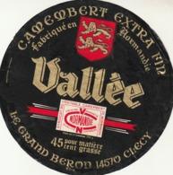 Rare étiquette De Fromage  Camembert Vallée - Fromage