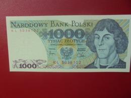 POLOGNE 1000 ZLOTY 1982 PEU CIRCULER (B.4) - Pologne