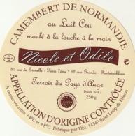 Rare étiquette De Fromage  Camembert Nicole Et Odile - Fromage