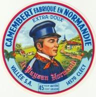 Rare étiquette De Fromage  Camembert Le Paysan Normand - Fromage
