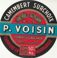 Rare étiquette De Fromage  Camembert Surchoix Voisin - Fromage