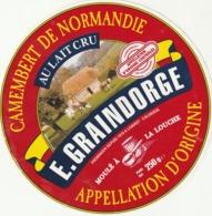 Rare étiquette De Fromage  Camembert Graindorge - Fromage