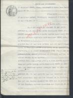TYPE ACTE CONTRAT ENTRE CONTI JEAN PARIS  & FERDINAND BAUDRY PARIS THÊATRALE LIRE : - Manuscrits