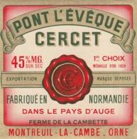 Rare étiquette De Fromage  Pont L'évêque Cercet - Fromage