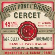 Rare étiquette De Fromage Petit   Pont L'évêque Cercet - Fromage