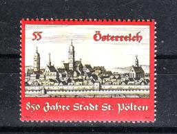 Austria  - 2009. Anniv. Della Città Di St Polten. View. MNH - Geografia