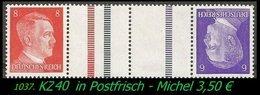 Postfrischer ZDR Mi. Nr. KZ 40 - Zusammendrucke
