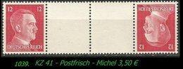 Postfrischer ZDR Mi. Nr. KZ 41 - Zusammendrucke