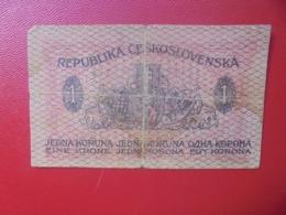 TCHECOSLOVAQUIE 1 KORUNA 1919 CIRCULER (B.4) - Checoslovaquia