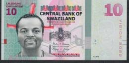 SWAZILAND P41a 10 EMALANGENI 2015 #AC UNC. - Swaziland