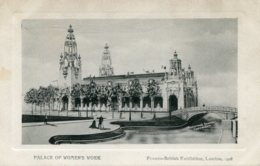 UNITED KINGDOM Franco-British Exhibition London - Palace Of Womens Work 1908 - Expositions