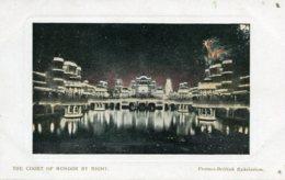 UNITED KINGDOM Franco-British Exhibition London - The Court Of Honour At Night 1908 - Exposiciones
