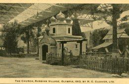 UNITED KINGDOM  1913 - Advertising Card H C Cleaver Ltd - The Church Russian Village At Qlympia 1913 (2) - Exposiciones