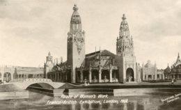 UNITED KINGDOM Franco-British Exhibition London - RPPC Palace Of Womens Work 1908 - Exposiciones