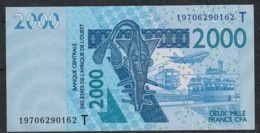 W.A.S. TOGO P816Ts 2000 FRANCS (20)19 2019 UNC. - West-Afrikaanse Staten