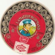 Rare étiquette De Fromage Camembert L'amateur Normand - Fromage