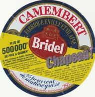 Rare étiquette De Fromage Camembert Bridel Jeu Concours 500 000 F - Fromage