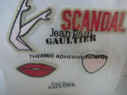 """GAULTIER """"SCANDAL""""  THERMO ADHESIVES PATCHES SOUS BLISTER  LE DERNIER   LIRE ET VOIR!! - Miniatures Femmes (avec Boite)"""