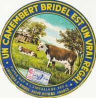 Rare étiquette De Fromage Camembert Bridel Est Un Vrai Régal - Fromage