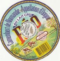 Rare étiquette De Fromage Camembert Réo Médaille D'or - Fromage