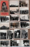 Poch. 17 Photos Originales Guerre 1939-45 Parachutage, Américains, Entrainement Au Tir De Civils, Résistance, Waterloo. - Guerre, Militaire
