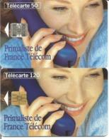 2 Télécartes PRIMALISTE FRANCE TELECOM 50 Et 120 U SC7 Et SO3 - 11/95 - 12/96 Utilisées N° 583/84 - 1995