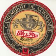 Rare étiquette De Fromage Camembert Elle Et Vire - Fromage