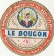 Rare étiquette De Fromage Camembert Le Bougon - Fromage