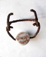 Bouchon Porcelaine Fermeture Bouteille Allemand  WW1 1914  1918 Relique Détection - 1914-18