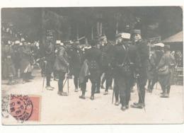 """NICE - Carte Photo Militaire - """"Souvenir Des Dernières Manoeuvres Alpines"""",  Voir Texte Au Verso - Monuments"""