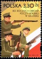 Poland 2019 Fi 5000 Mi 5150 80th Anniversary Of The Defense Of Poczta Polska In Gdańsk - 1944-.... República
