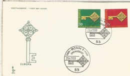 ALEMANIA FDC BONN 1968 EUROPA CEPT - Europa-CEPT