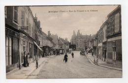 - CPA AUBIGNY (18) - Rue Du Prieuré Et Le Château (avec Personnages) - Editions Nouvelles Galeries - - Aubigny Sur Nere