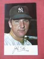 John Ellis  1971 Clinic Schedule       NY Yankees >>ref 3632 - Baseball