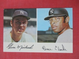 Horace Clarke & Gene Michael   1971 Clinic Schedule       NY Yankees >>ref 3632 - Baseball