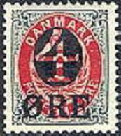 DENEMARKEN 1905 Opdruk 4/8õre Roodgrijs PF-MNH-NEUF - Nuovi