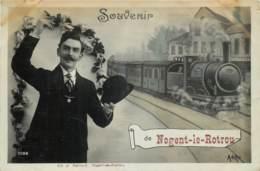 France - 28 - Fantaisie - Souvenir De Nogent-le-Rotrou - Train - Nogent Le Rotrou