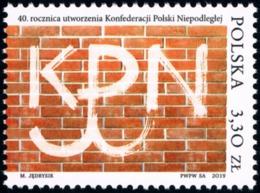 Poland 2019 Fi 5002 Mi 5152 40th Anniversary Of The Establishment Of The Confederation Of Independent Poland - 1944-.... República