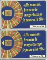 2 Télécartes MILLIONNAIRE FDJ 50 U S03 - 10/95 Utilisées (numéros Maigres Et Gras) N° 575 - 1995