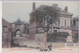 ESSIGNY-LE-GRAND - Château Fort - Sortie Du Troupeau De Moutons - Berger - Chien - France