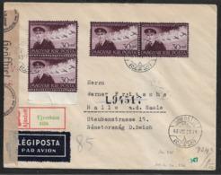 1943 UNGARN R-BRIEF LUFTPOST OKW ZENSUR - UJVERBASZ N. HALLE - Ungarn