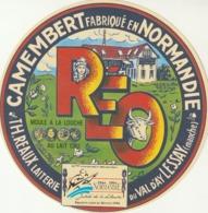Rare étiquette De Fromage Camembert Réo 1944-1994 Débarquement En Normandie 50 ème Anniversaire - Fromage