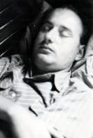 Photo Originale Sieste & Farniente Pour Dormeur En Wagon - Homme Endormi 1950/60 - Personnes Anonymes