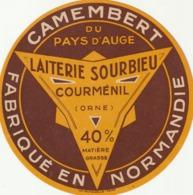 Rare étiquette De Fromage Camembert  Laiterie Sourbieu - Fromage